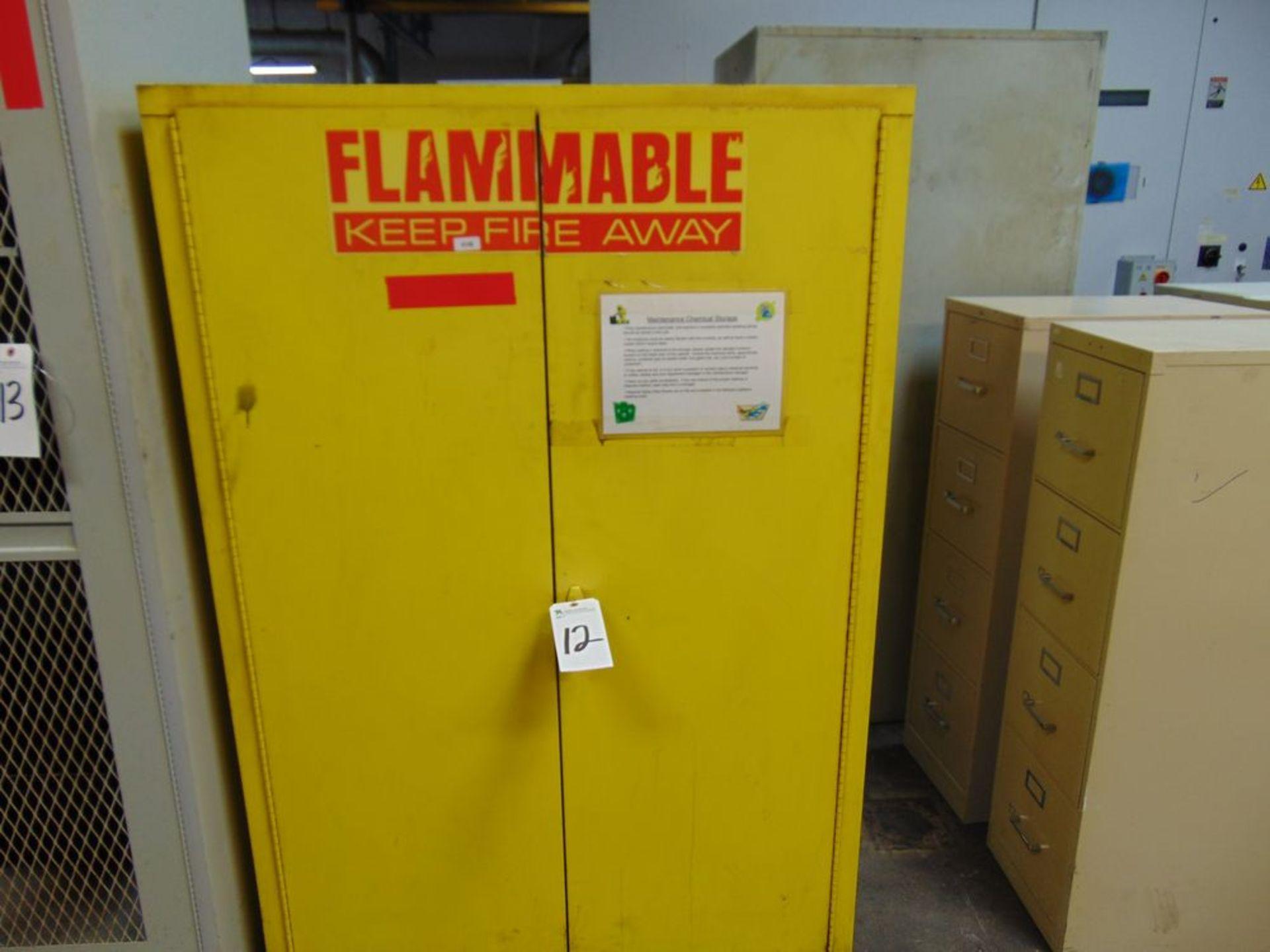 Lot 12 - Flammable Fire Cabinet