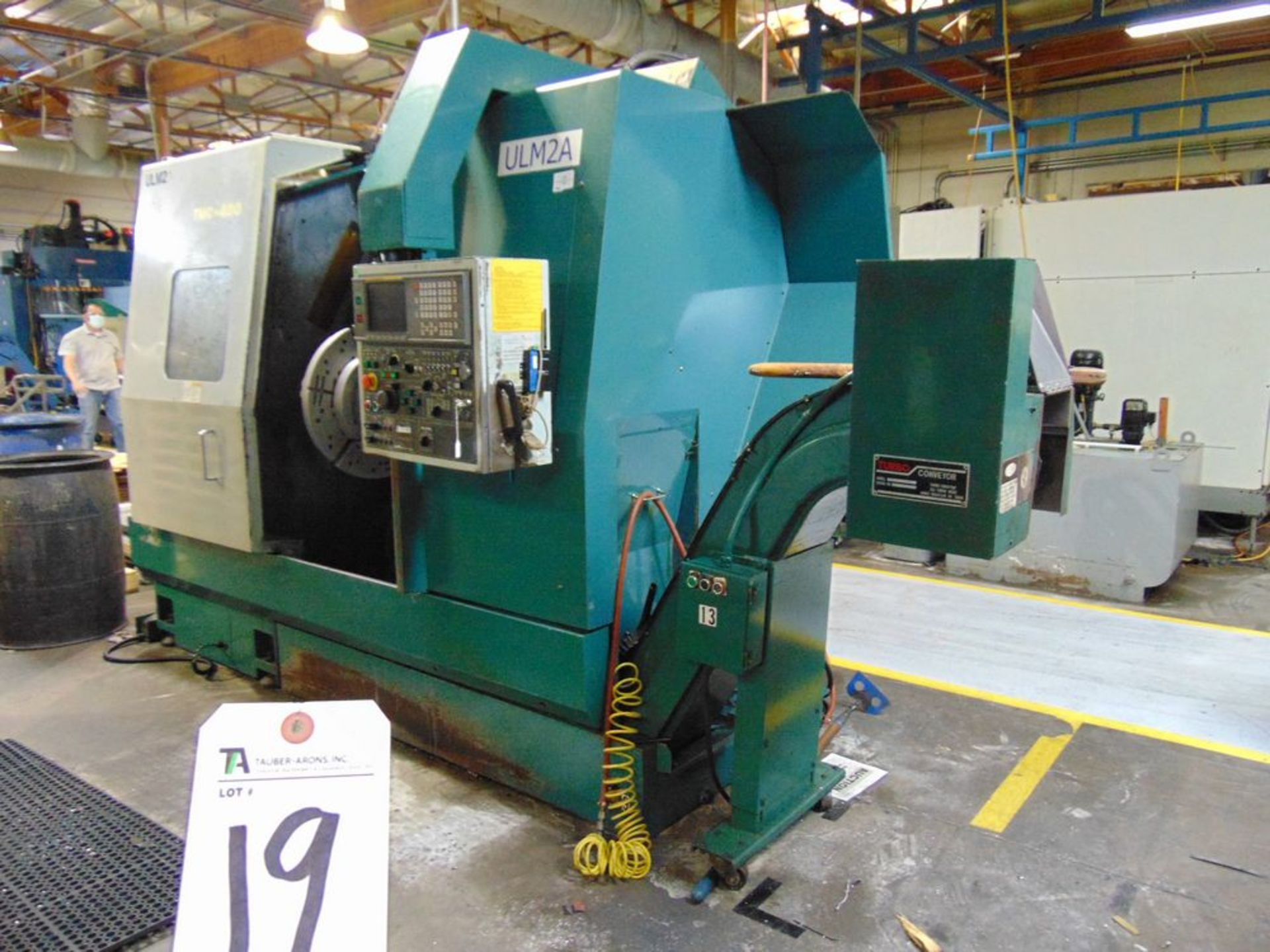 Lot 19 - Nakamura Tome mod. TMC-400, CNC Turning Center, 12-Position Turret, Turbo Chip Conveyor, Tail Stock,