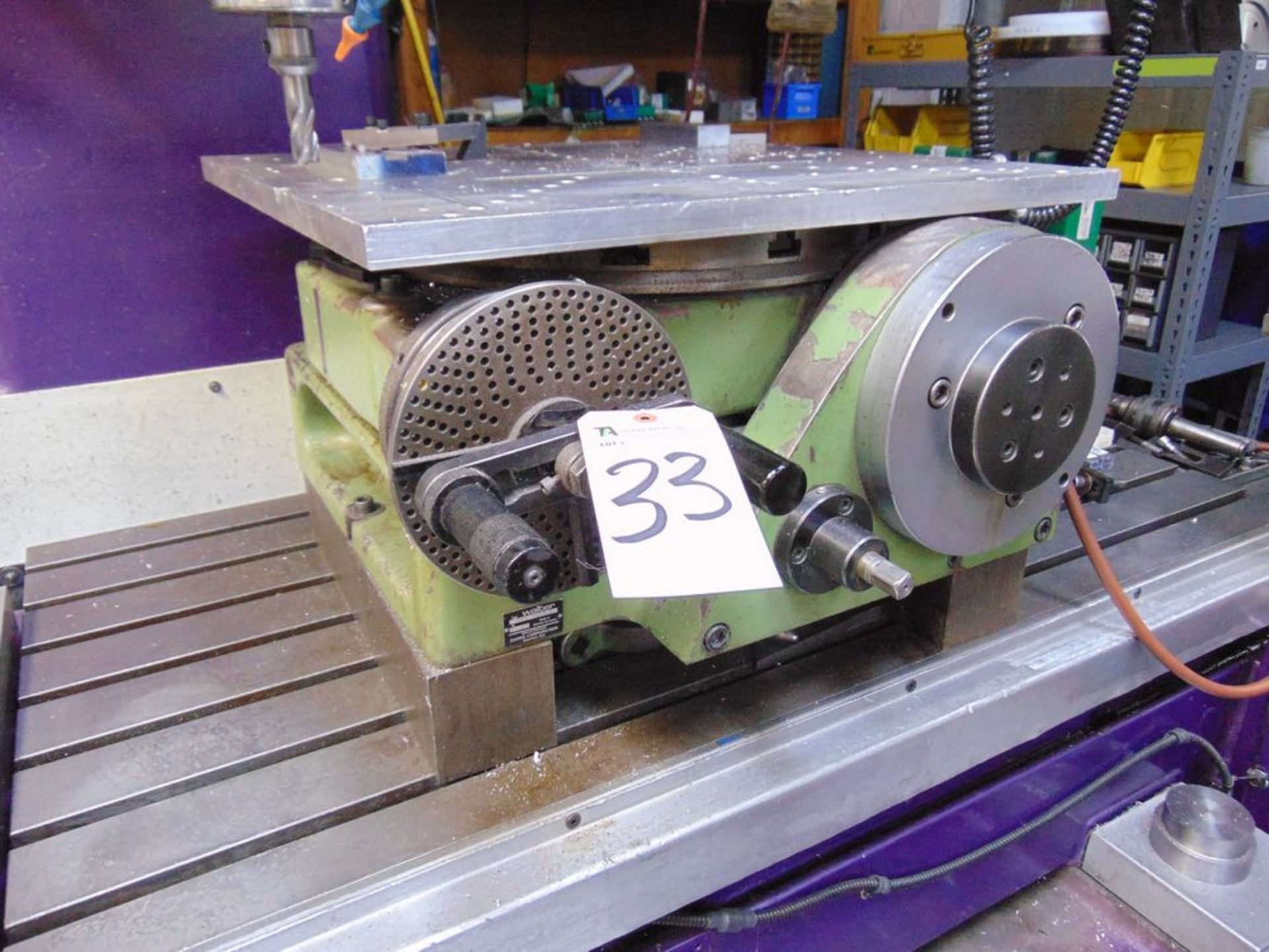 """Lot 33 - Watter mod. RS500G, 24"""" Rotary Table S/N 2683"""