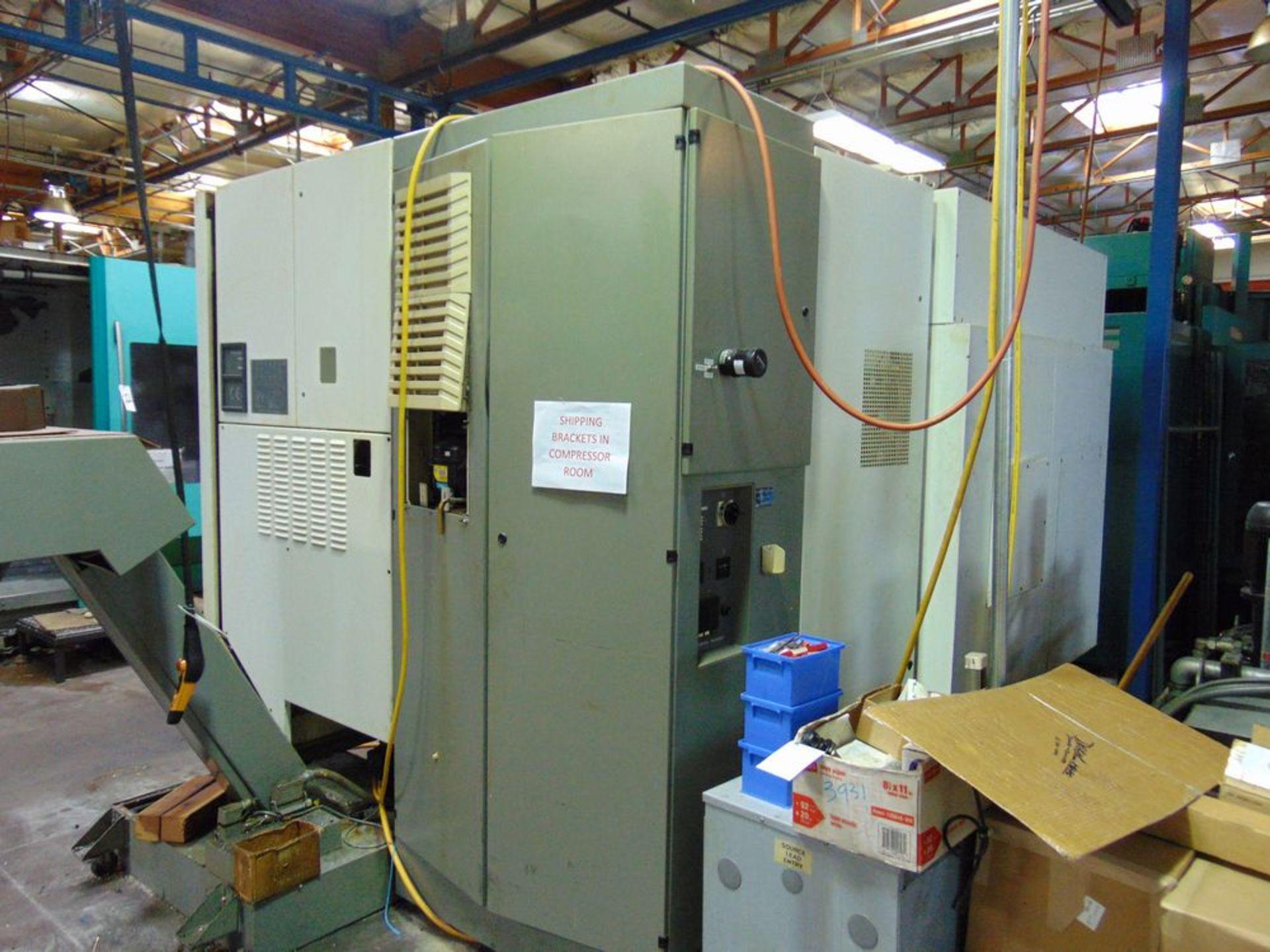 Lot 21 - (2001) Deckel Maho mod. DMU80P, Hi-Dym, 5-Axis CNC Horizontal Machine Center w/ Knuckle Joint