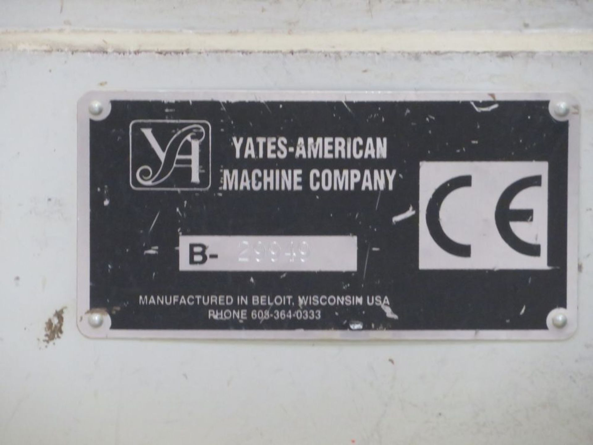 Lot 18 - Yates American mod. 29949 Tongue Drive System