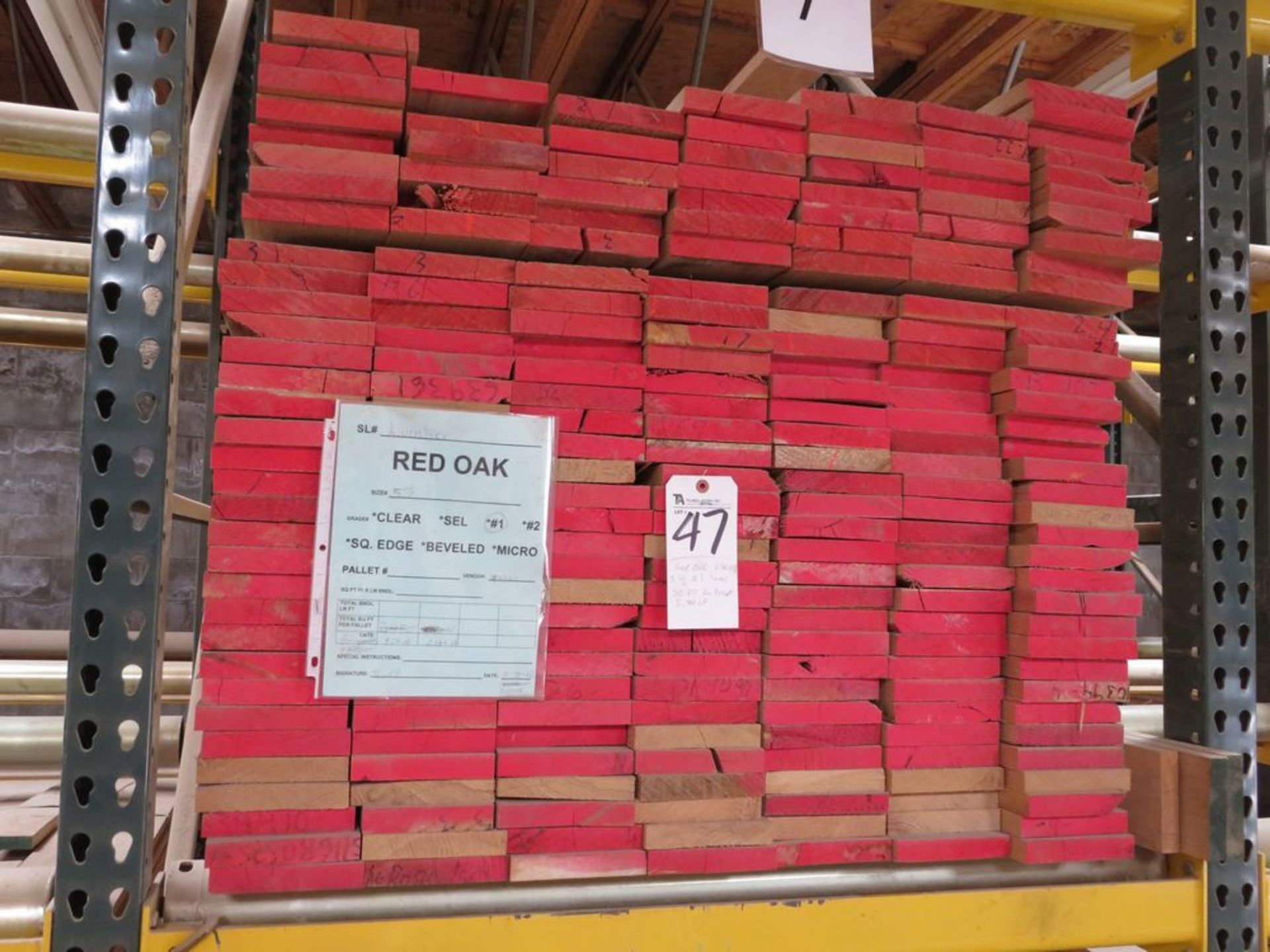 Lot 47 - (Lot) Red Oak (Grade Sel S4S), Thickness 1'',
