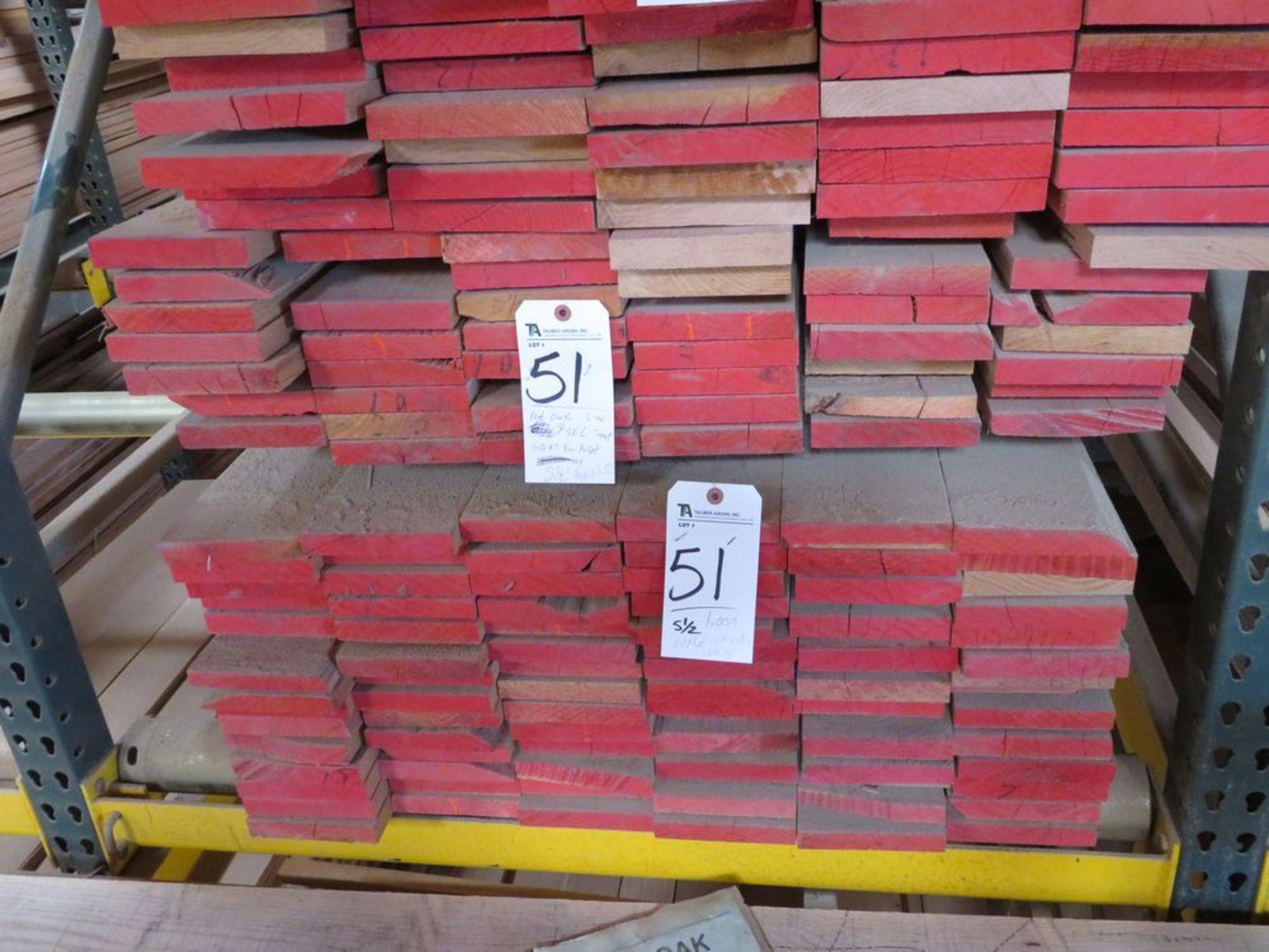 Lot 51 - (Lot) Red Oak (Grade Sel Cut S4S), Thickness