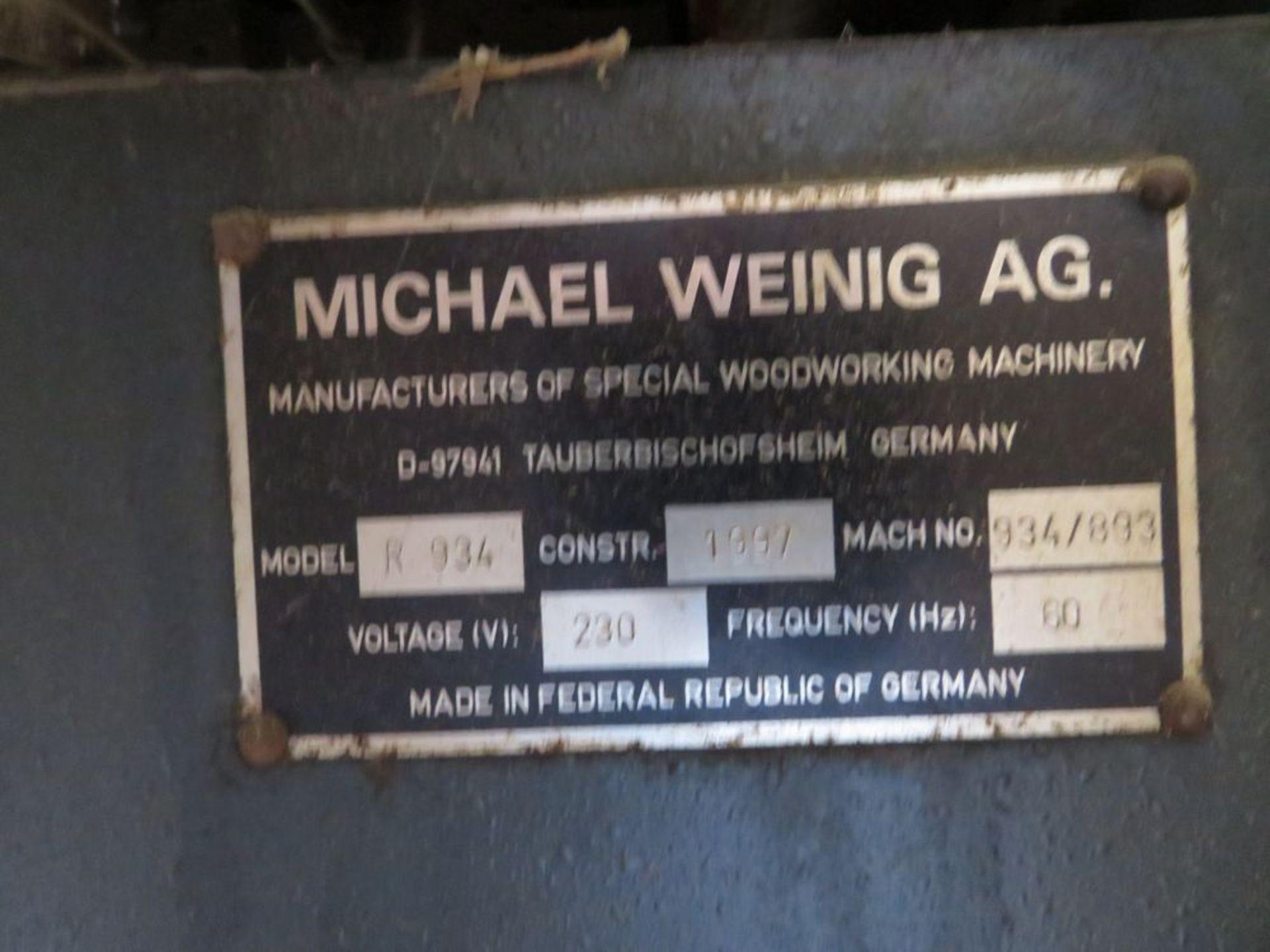 Lot 16 - Weinig Rondamat 934 Knife Grinder, 260V, 3PH