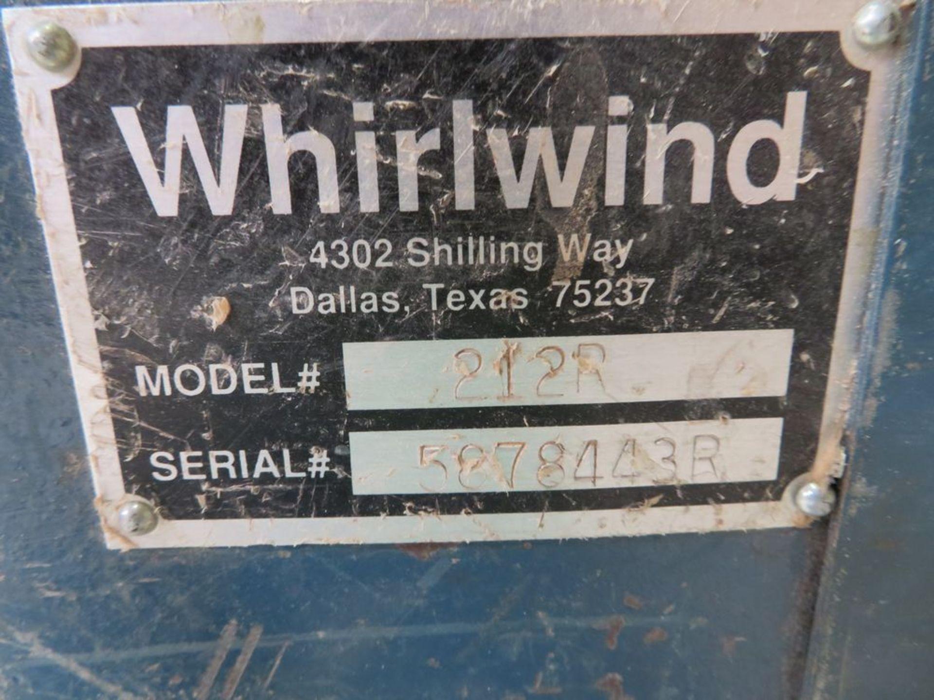 Lot 5 - Whirlwind mod. 212R, Under Cut Chip Saw