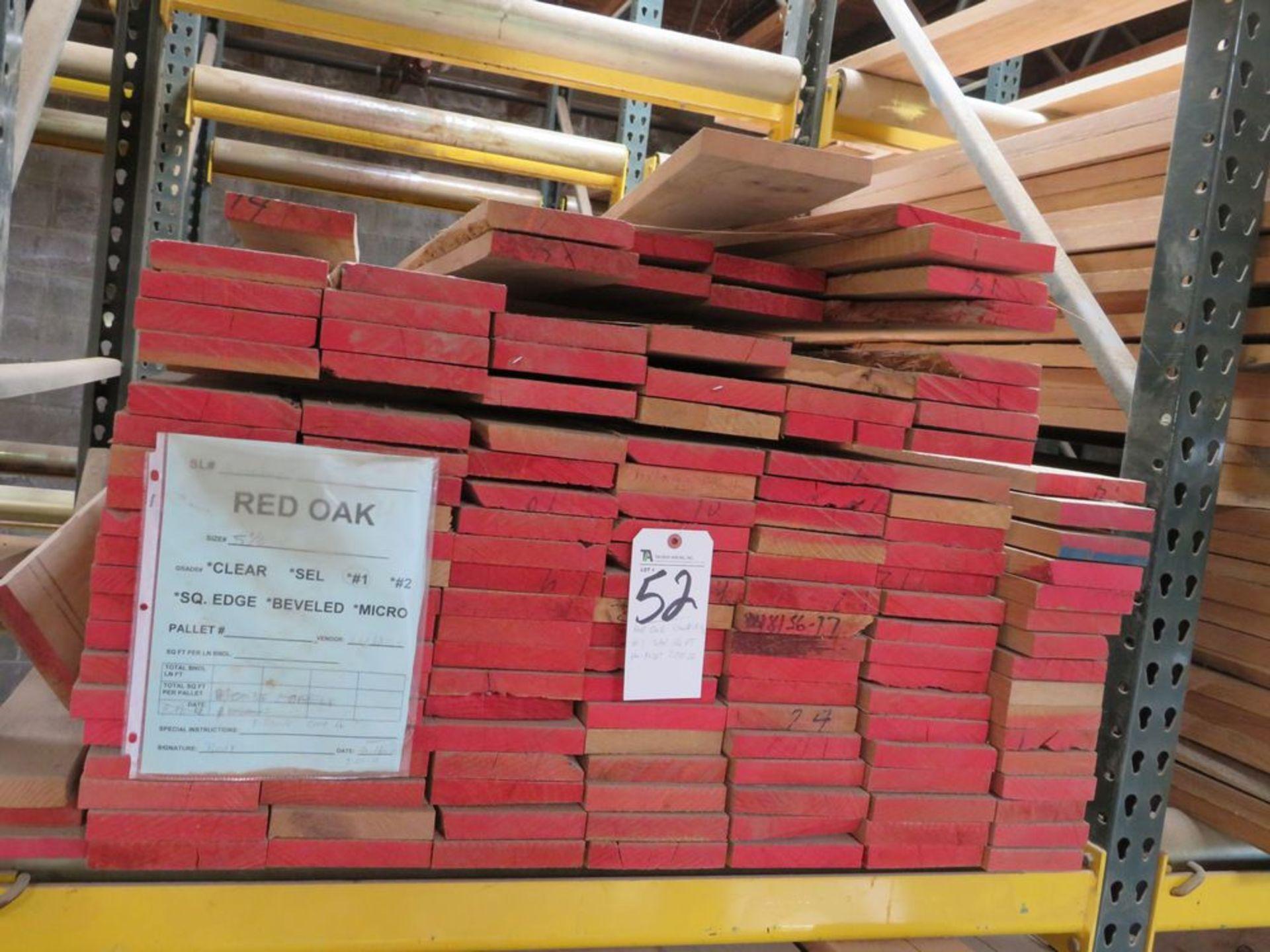 Lot 52 - (Lot) Red Oak (Grade Sel #1, S4S), Width