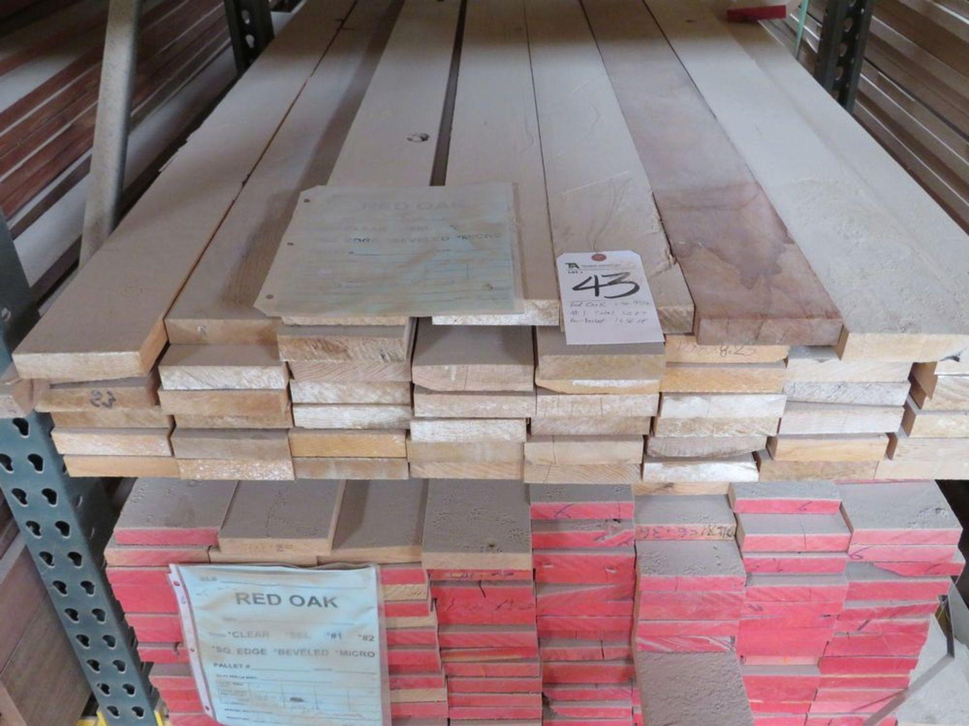 Lot 43 - (Lot) Red Oak (Sel Rift S4S), Thick 1'',