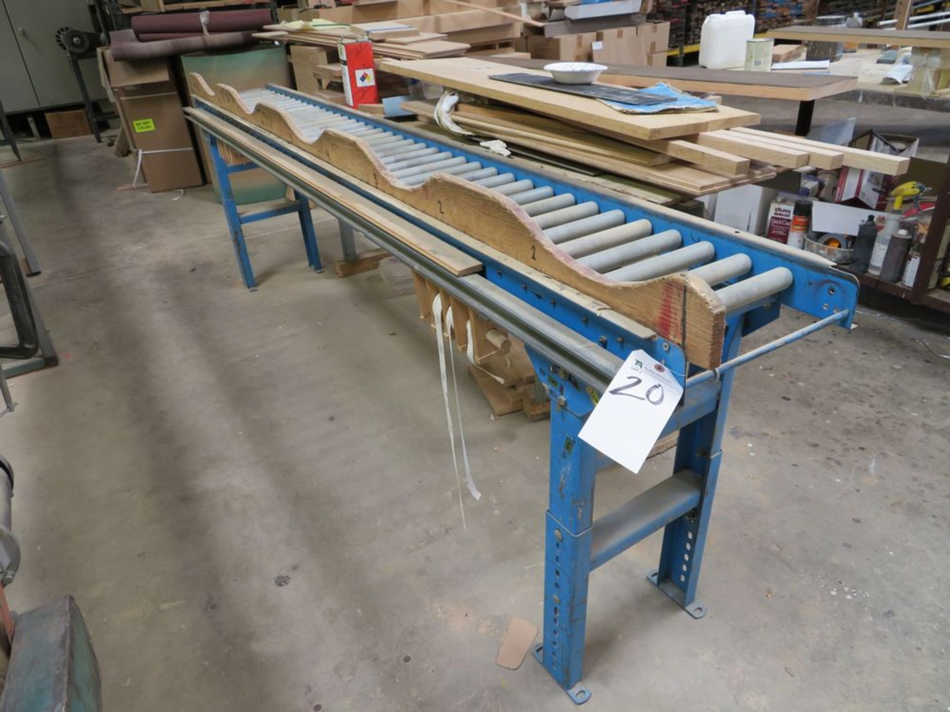 Lot 20 - 12''W x 10'L Adjustable Height Roller Conveyor