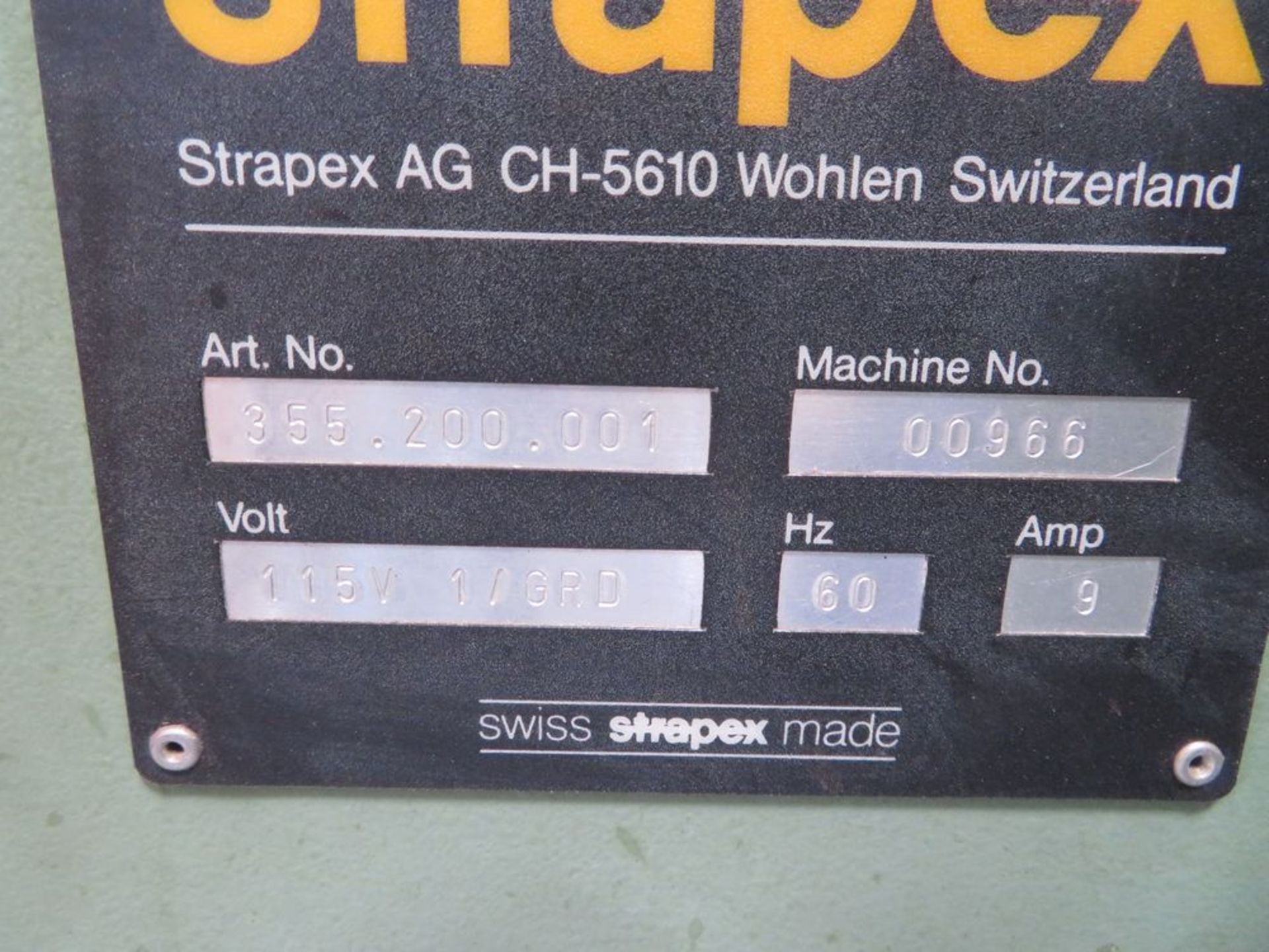 Lot 7 - Strapex Automatic Banding System