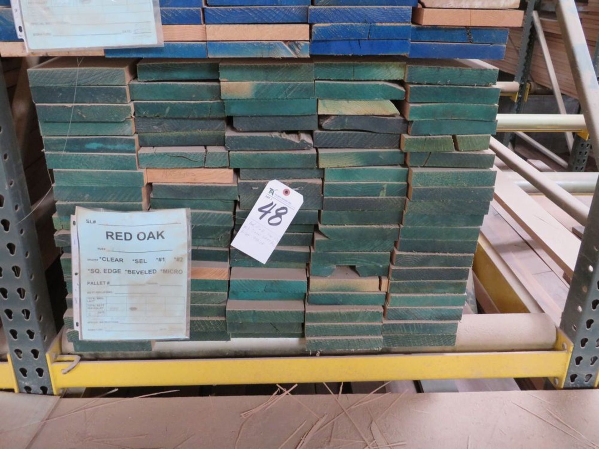 Lot 48 - (Lot) Red Oak Cut Straight S4S, Thickness 1'',