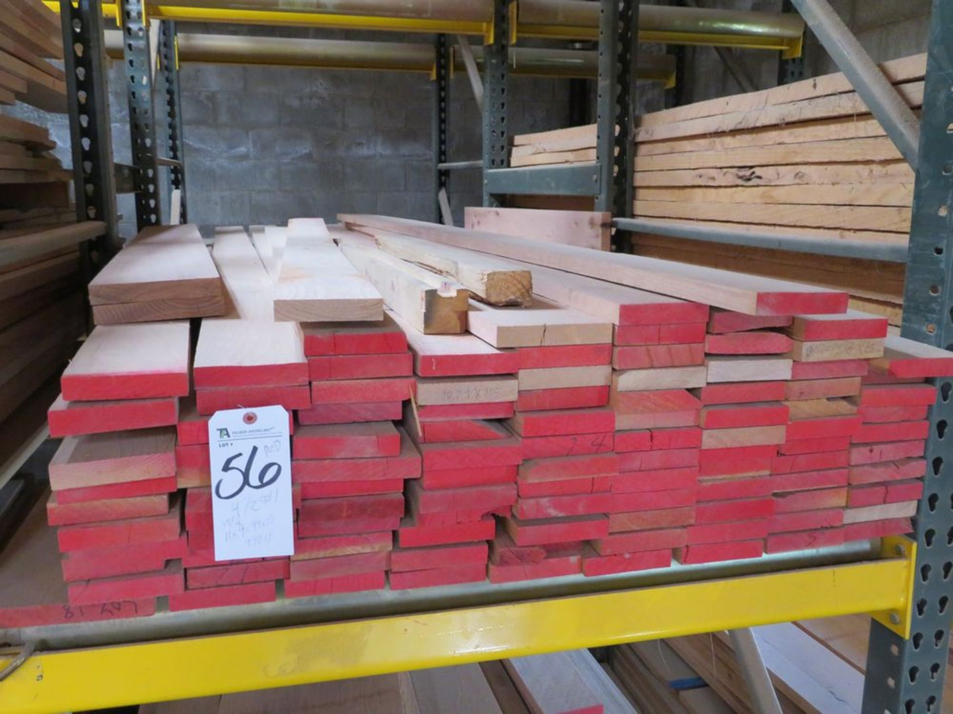 Lot 56 - (Lot) Red Oak (Grade Sel S4S), Thickness 1'',