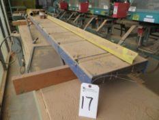 (Lot) 10'' L x 8'' Roller Conveyor