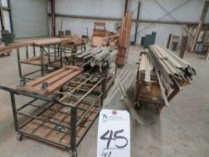 (Lot) Approx. (9) Carts w/ Wood & Window Trim