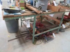 48''D x 144''W x 39''T Work Table (No Contents)