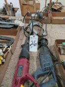 (Lot) Electric Hand Tools, Zaw Saws, Circular Saw, Router