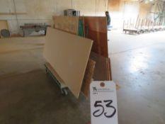 (Lot) A Frame Type Cart w/ Wood