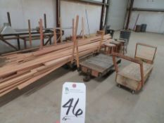 (Lot) (6) Carts, Steel & Wood w/ Wood Molding