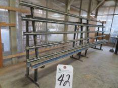5 ½'' Roller, 20' W x 4'' T Window Prep Station Rack