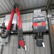 (Lot) Lincoln mod LFA 4.1, Fume Extractor w/ Dust Collector (No Wire)