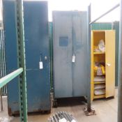 (Lot) (3) HD Steel Storage Cabinets: 48''D x 48''W x 98''T, 36''D x 48''W x 95''T (On Casters),