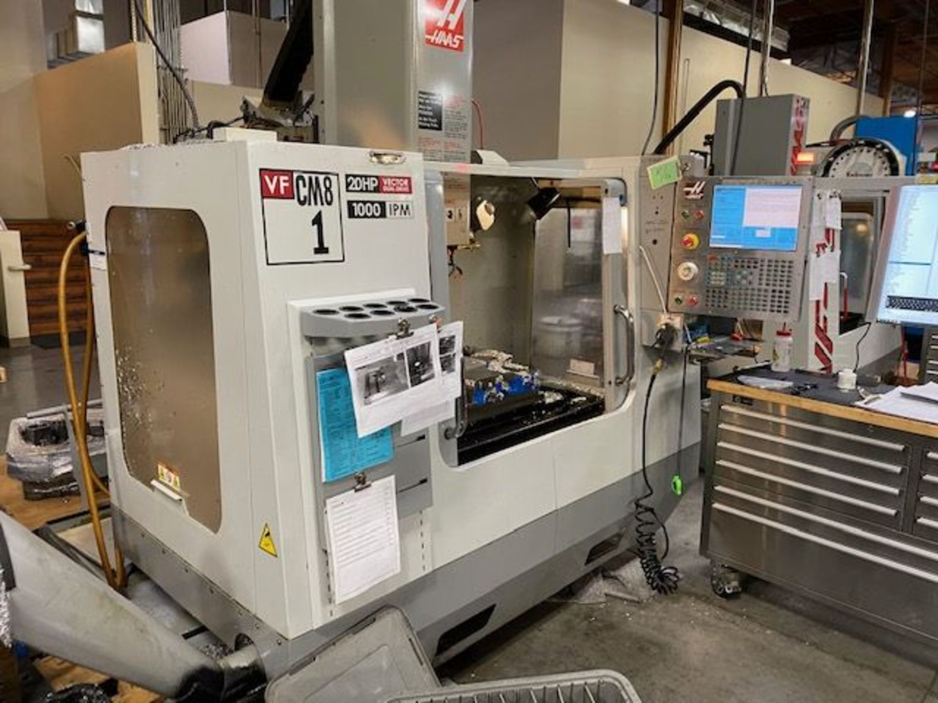 (2008) Haas Mod. VF-1 208/230 Volt, 3 Phase, Vertical Mill; S/N 1069874 (Located at 1821 E Jackson