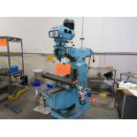 Hurco Vertical Mill, 9'' x 42'' Table w/ Power Feed Variable Speed Drive (No Rotary Table)