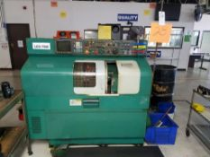 (1994) Nakamura Tome TMC-15, CNC Lathe w/ GE Fanuc Series O-T CNC Controls, Tailstock, Turret; S/N