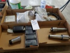 (Lot) Lyndex Corp. mod. 3J Collets w/ Live Centers and Assorted Tooling for Okuma Crown