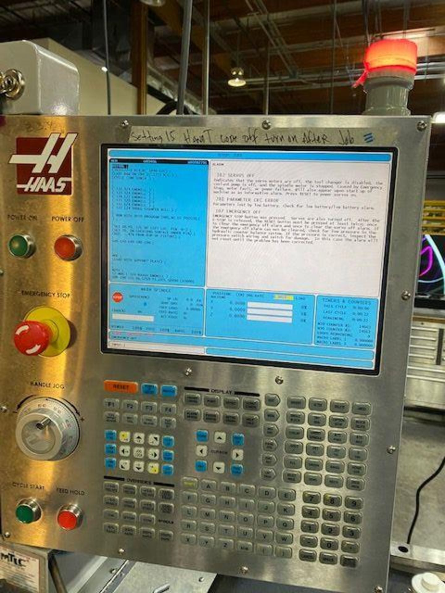 (2008) Haas Mod. VF-1 208/230 Volt, 3 Phase, Vertical Mill; S/N 1069874 (Located at 1821 E Jackson - Image 4 of 5