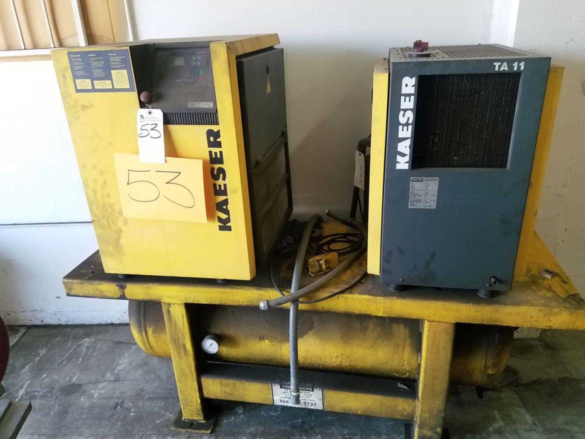 (2005) Kaeser mod. TA-11 and SMII, 10hp Rotary Screen Air Compressor