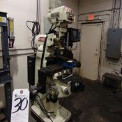 Acer mod. EVS-3VS Vertical Milling machine w/ DROs S/N 98050641