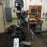Lagun mod. FTV-2H, Vertical Milling Machine w/ PF DROs; S/N 3392