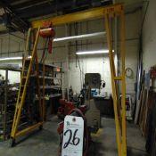 CM mod. 635, 2-Ton Electric Hoist w/ A-Frame, 11'W x 10'T
