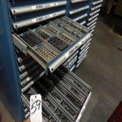 Lista 16-Door Tooling Cabinet w/ Jobber Drills, Center Mills, Taper Shank Drills