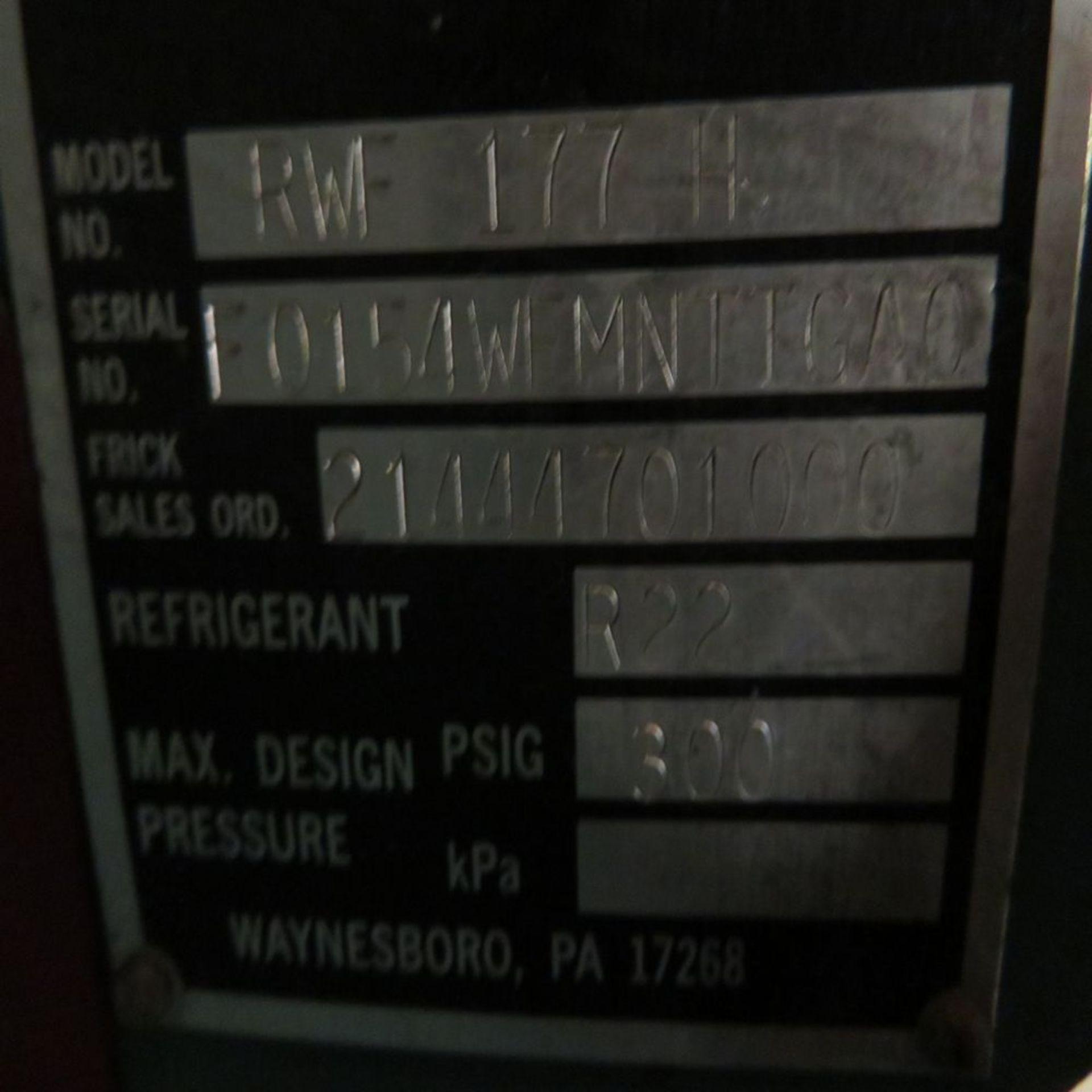 (Lot) Frick mod. RWF-177-H, Rotary Screw Air - Image 7 of 7