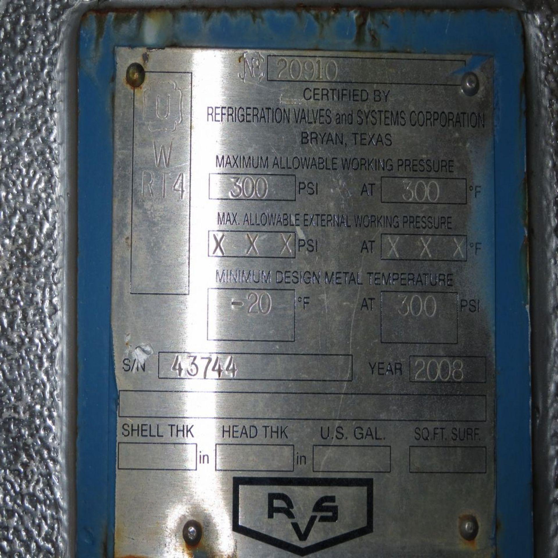(2008) RVS Ammonia Surge Drum, SD 3-1 w/ - Image 4 of 4