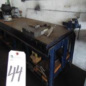 Steel Heavy Duty Welding Table, 4' x 9' x 3' Tall