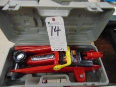 (Lot) Big Red Jacks (2) Trolley Jack 4,000lb. Cap. & (2) Hydraulic Battle Jacks (No Carts)
