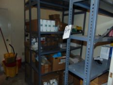 (Lot) Contents of Shelves, Including Office Supplies Gloves & Masks