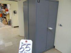 (Lot) Dayton 2-Door Storage Cabinet w/ Contents 18'' x 56'' x 72''T