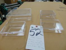 (Lot) Clear Jewel Boxes of Various Sizes, 4.6'' x 3.5'' x 1.25'', 7'' x 5'' x 1.75'', etc. (150)