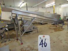 22.5'' x 22'L S.S. Belt Type Incline Conveyor