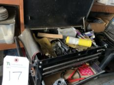 (Lot) Portable Tool Box w/ Hand Tools & Misc. Contents