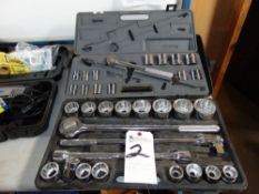 (Lot) Assorted Size Sockets, Taps & Dies