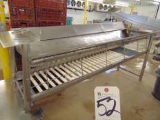 S.S. Roller Type Belt Conveyor, 10'L x 28''W