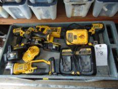 (Lot) DeWalt Power Tools w/ Chargers & Batteries