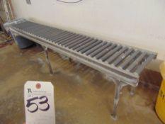18'' x 10' S.S. Roller Type Conveyor