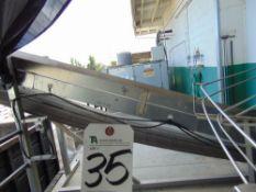 18''L x 28''W Incline Cleated Trash Conveyor