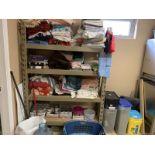 Metal Four Shelf Rack w/ Towels