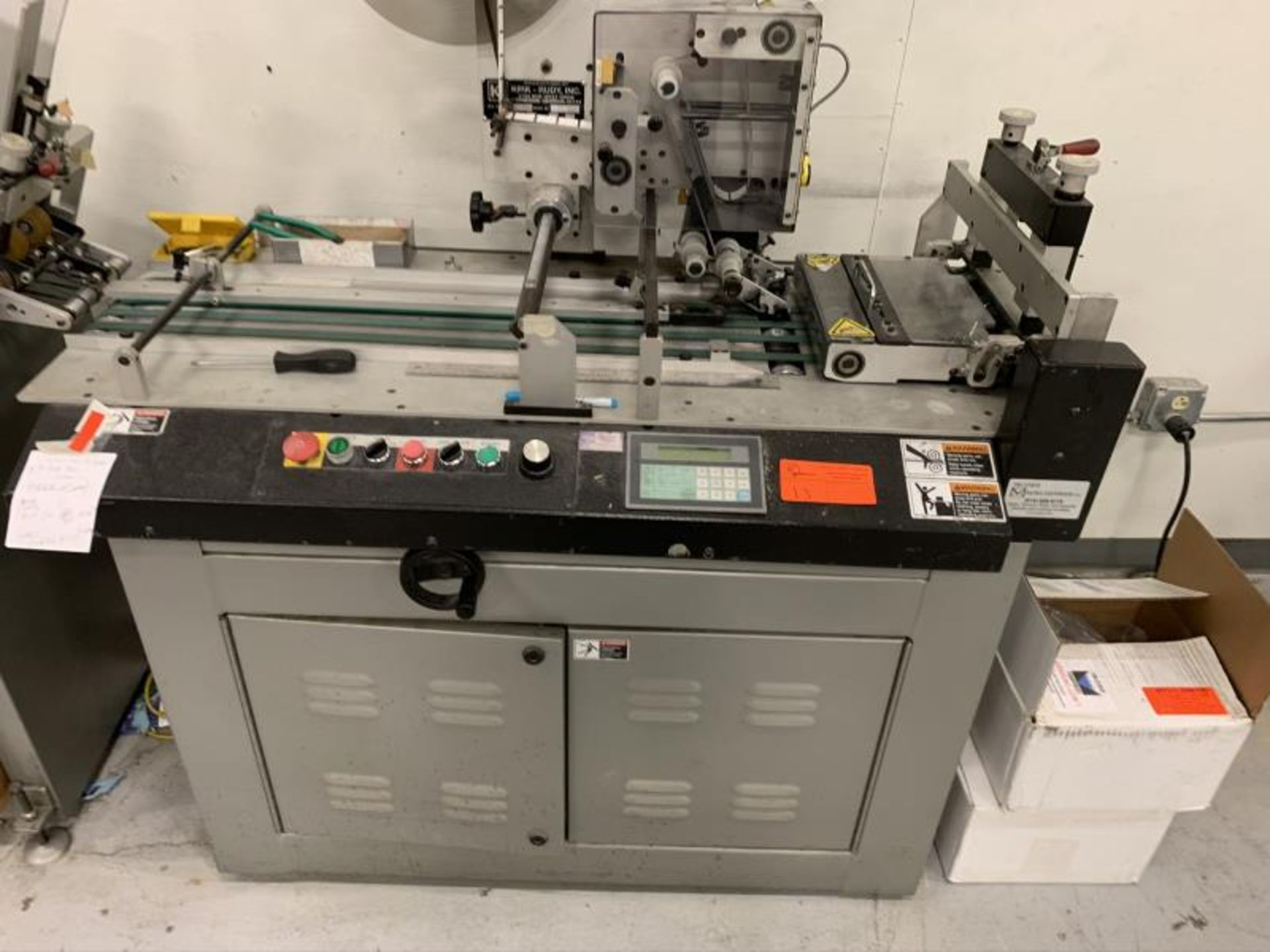 Lot 13 - Wafer Sealing System by Kirk Rudy, Model: 585-CS, SN: 602525 w/ Feeder & Delivery Unit, Model: 314-